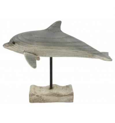 Decoratiune din lemn Delfin