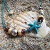 Bratara handmade Blue Starfish