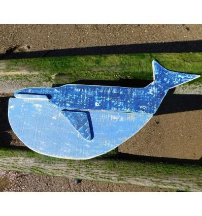 Decoratiune Balena din lemn reciclat