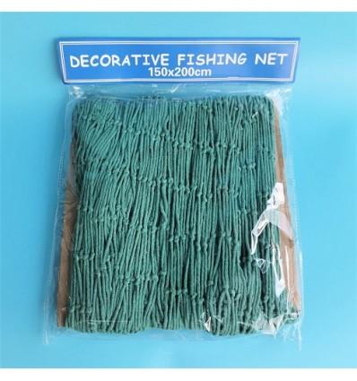 Plasa de pescuit decorativa verde