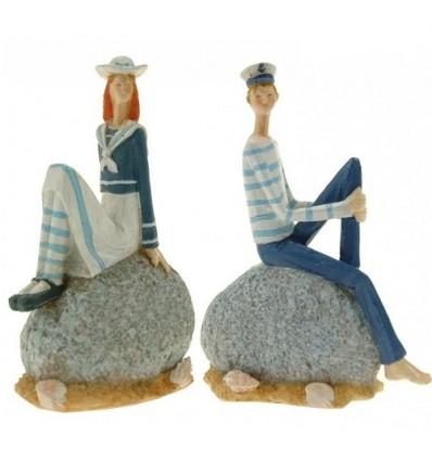 Set 2 figurine Marinari Pereche asezati