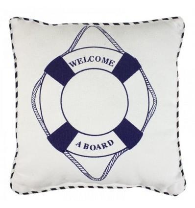 "Perna decorativa ""welcome aboard"""