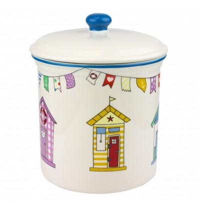 Recipient ceramica pentru biscuiti Casute de plaja